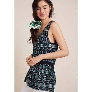 Anthropologie | NWT Cammie Embroidered Peplum Top